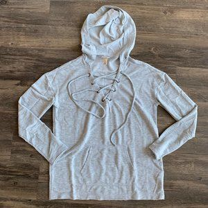 mossimo supply co lace-up hoodie - size s